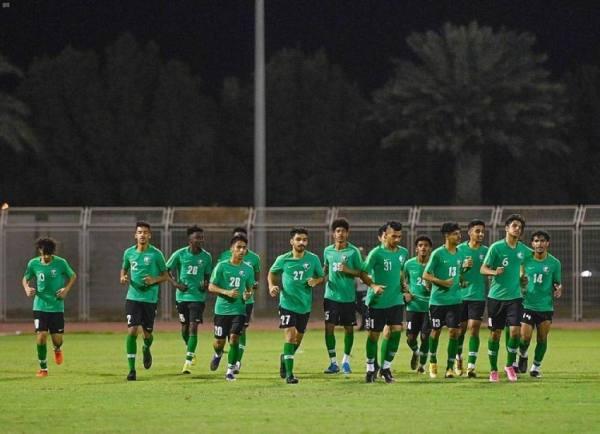 المنتخب السعودي تحت 20 عامًا يواصل تدريباته على ملعب التعاون