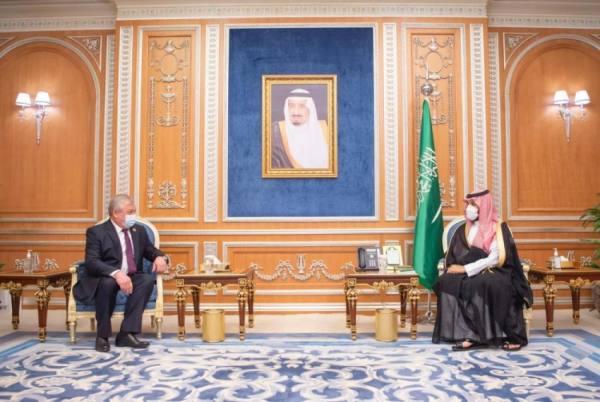 ولي العهد يستعرض مع لافرينتيف العلاقات الثنائية ومستجدات الأوضاع على الساحة السورية