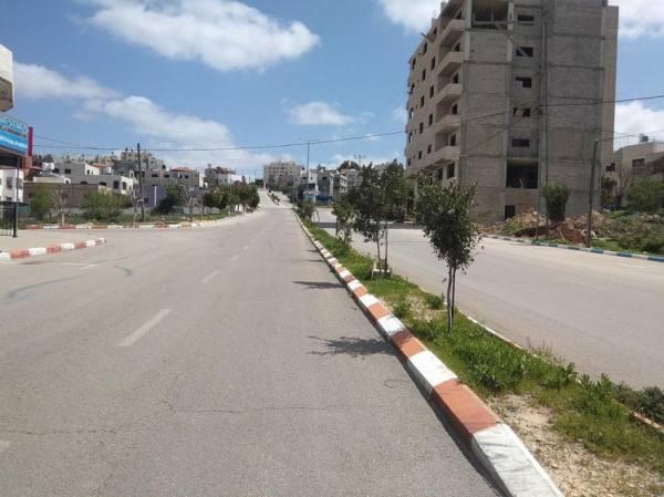 فلسطين تمدد الاغلاق الشامل في مواجهة إرتفاع