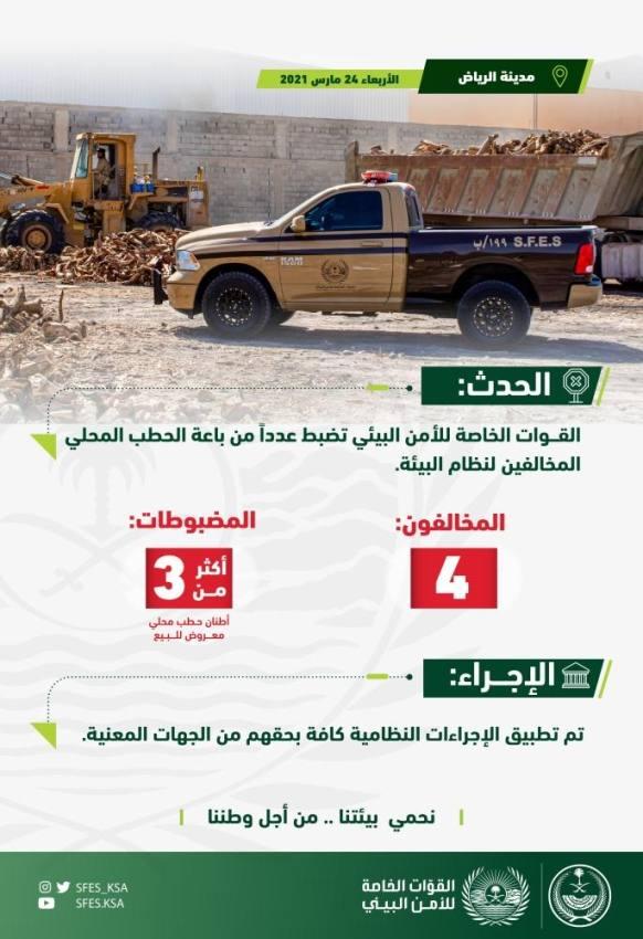 ضبط 4 مخالفين لنظام البيئة في مدينة الرياض