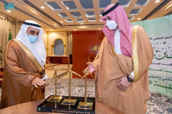 أمير الجوف يستقبل محافظ التدريب التقني ويشهد توقيع اتفاقية وعقود توظيف
