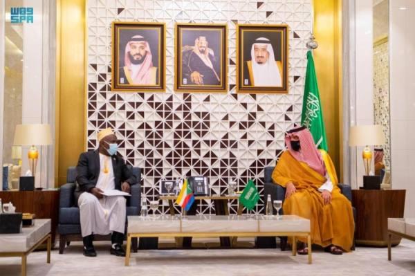 عبدالعزيز بن سعود يستقبل وزير الداخلية المكلف بجمهورية القمر