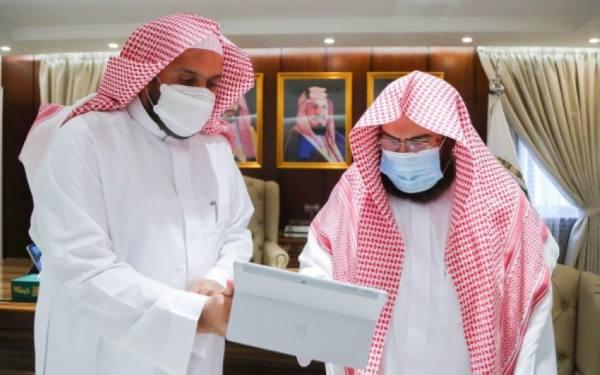 السديس يدشن تطوير منظومة الأعمال والمشاريع بالمسجد الحرام