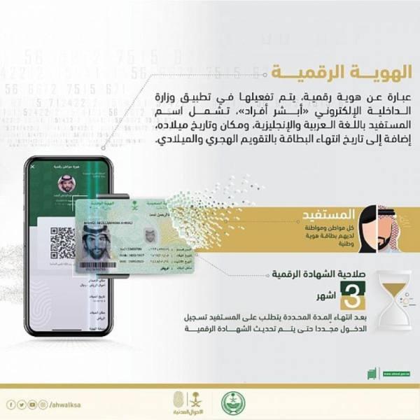 الداخلية: الهوية الرقمية عبر «توكلنا» وسيلة إثبات رسمية