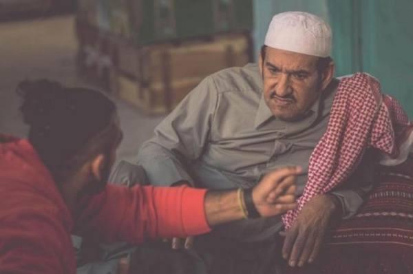 عبدالله السدحان أثناء تصوير مسلسل «شليوي ناش»