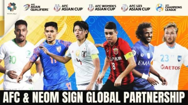 «نيوم» شريكاً عالمياً لبطولات الاتحاد الآسيوي حتى 2024