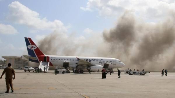 تحقيق أممي يحمّل الحوثيين مسؤولية الهجوم على مطار عدن