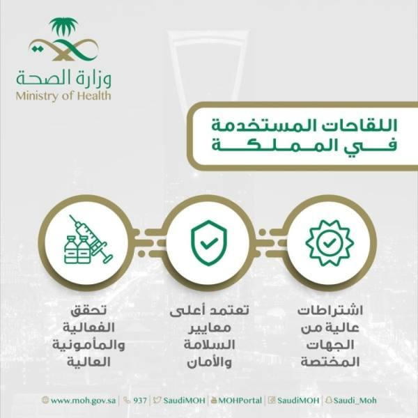 الصحة تؤكد : جميع اللقاحات المستخدمة في المملكة آمنة