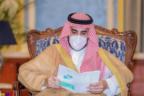 سمو أمير منطقة الجوف يستقبل رئيس وأعضاء مجلس إدارة نادي القلعة بسكاكا