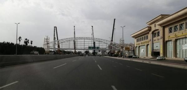 مشروع تركيب جسر مشاه طريق الملك فهد بجدة