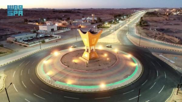 أمانة الجوف تنهي إعادة تأهيل وتطوير المدخل الشمالي لمدينة سكاكا