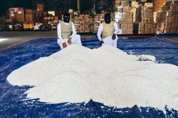مكافحة المخدرات تحبط تهريب 4 ملايين و335 ألف قرص إمفيتامين بميناء جدة