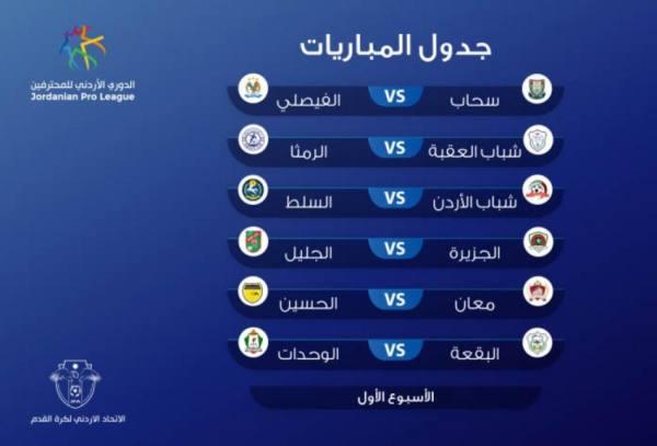 منافسات الدوري الأردني لكرة القدم موسم 2021 تنطلق غدًا