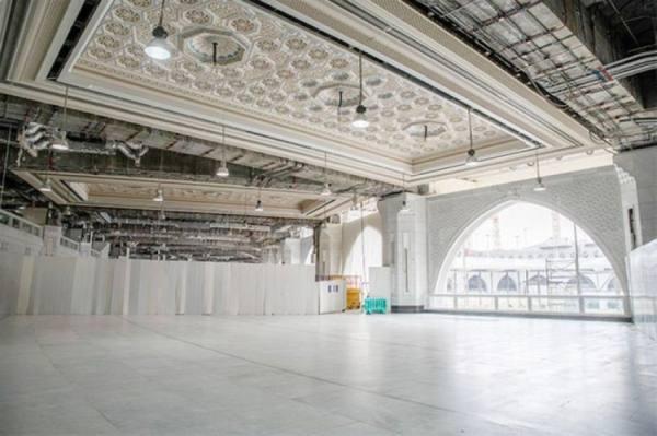 استقبال المصلين في التوسعة الثالثة بالمسجد الحرام خلال رمضان