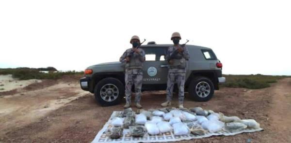 حرس الحدود  في جدة ورابغ يحبط تهريب 245.7 كيلو جرامًا من الهيروين