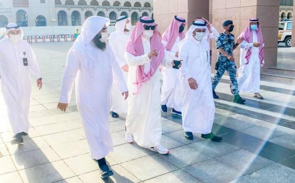 وكيل إمارة المدينة يتفقد خطة شهر رمضان في المسجد النبوي