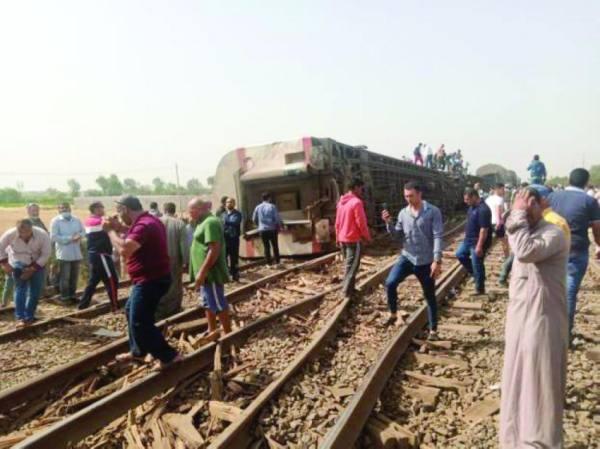 مصر: مقتل وإصابة 110 في حادث قطار طوخ