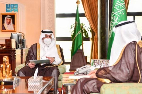 أمير تبوك يطلع على انجازات وأعمال فرع وزارة التجارة بالمنطقة