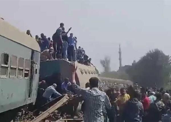 حبس 23 متهمًا في حادث قطار طوخ بمصر