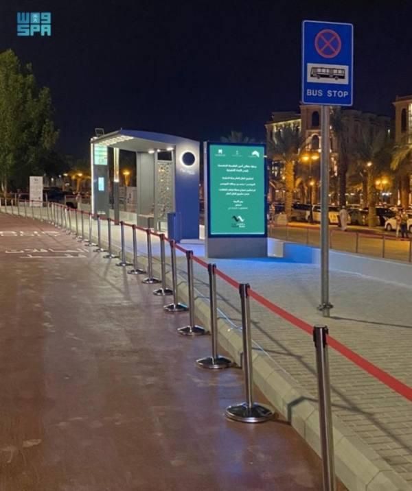 تدشين نموذج محطة توقف الحافلات بمكة