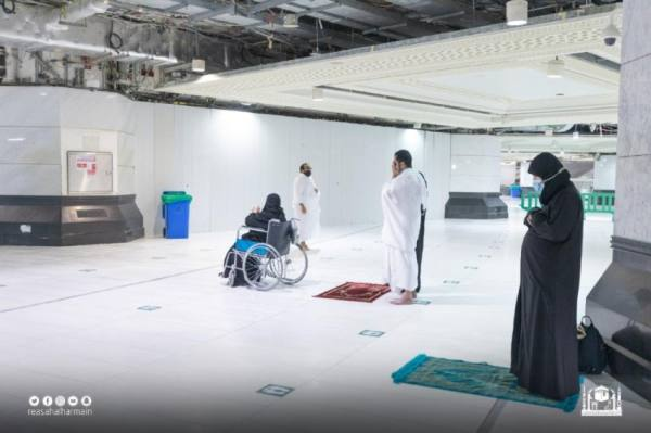 افتتاح مصلى سنة الطواف لذوي الإعاقة ببدروم صحن المطاف