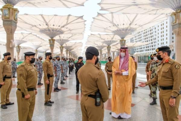 أمير المدينة يوجه بمضاعفة الجهود استعدادا للعشر الأواخر من رمضان