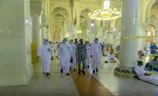 افتتاح مصليات توسعة الملك فهد وسطح المسجد الحرام وفق الاجراءات الاحترازية