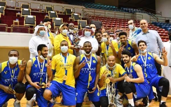 فريق النصر يحقق كأس وزارة الرياضة لكرة السلة للمرة الثالثة في تاريخه بفوزه على الهلال