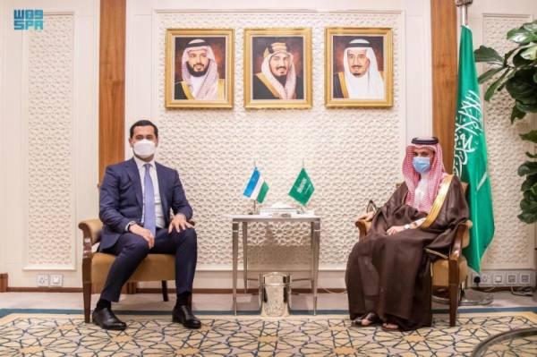 وزير الخارجية يبحث التعاون مع نائب رئيس الوزراء الأوزبكي