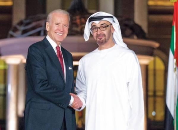 محمد بن زايد يبحث مع بايدن العلاقات الثنائية (هاتفياً )
