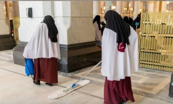 تعقيم المصليات النسائية 85 مرة ليلة ختم القرآن الكريم