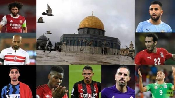 أبرز نجوم كرة القدم المتضامنين مع الفلسطينيين في أحداث القدس