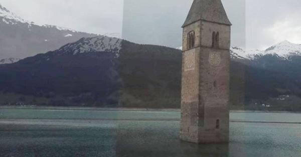 بالفيديو .. ظهور قرية إيطالية من تحت الماء بعد 70 عاما