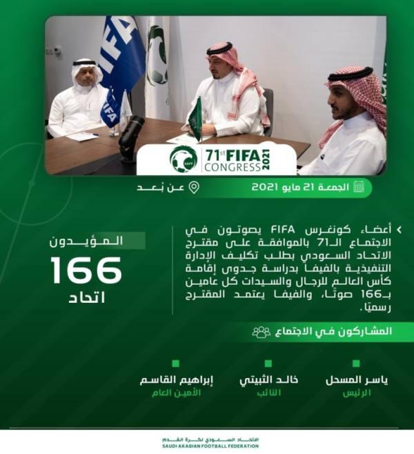 مقترح سعودي..الفيفا يدرس إقامة كأس العالم كل عامين