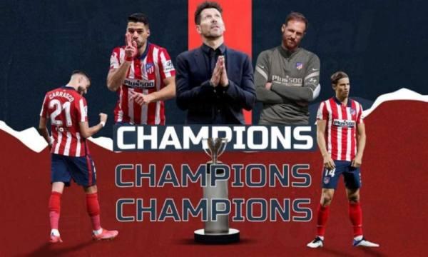 سيميوني يحقق رقم جديد بعد فوز أتلتيكو مدريد باللقب