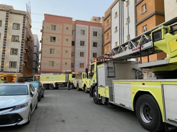 حريق شقة سكنية بجدة.. ولا ضحايا