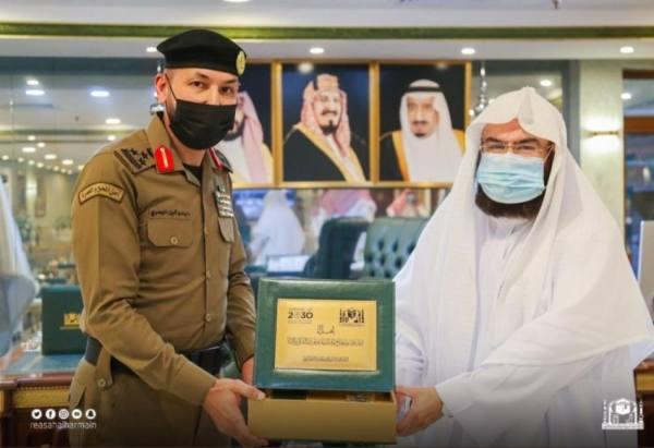 السديس يستقبل البدري قائد أمن المسجد الحرام الجديد