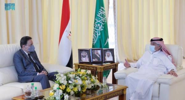 القصبي يبحث سبل التعاون مع رئيس مجلس تنظيم الإعلام المصري