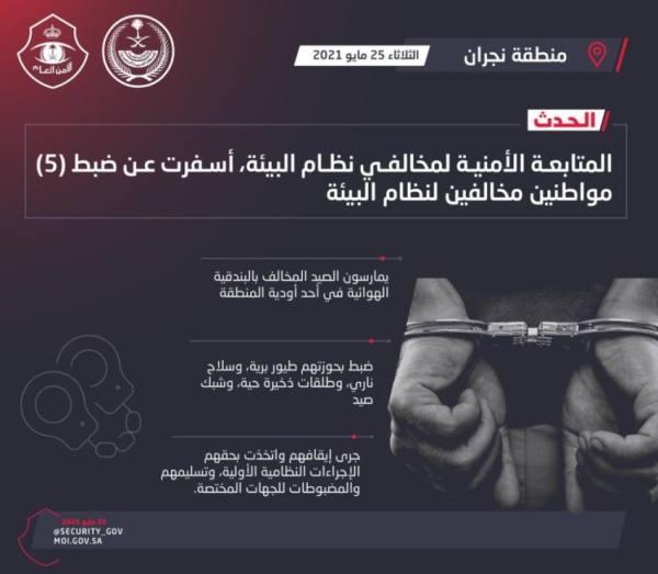 شرطة نجران تلقي القبض على مقيمين ارتكبوا جريمة سرقة محال تجارية