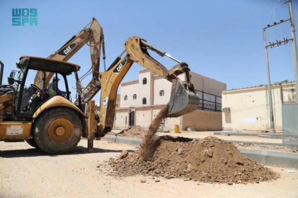 أمانة الجوف تواصل تنفيذ أعمال مشروع طريق الأمير سلطان السديري