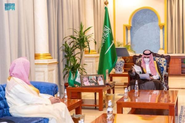 أمير الجوف يستقبل رئيس محكمة التنفيذ ويطلع على النظام الجديد