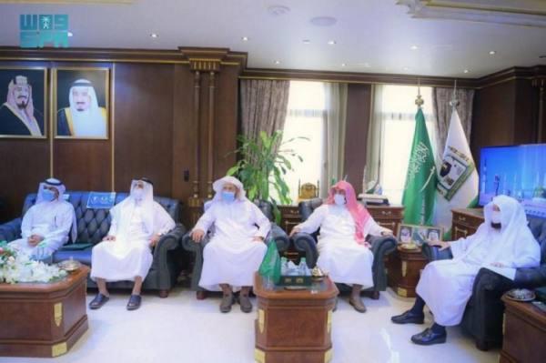 الشيخ السديس يدشّن مشروع الكتاب الصوتي برئاسة المسجد النبوي