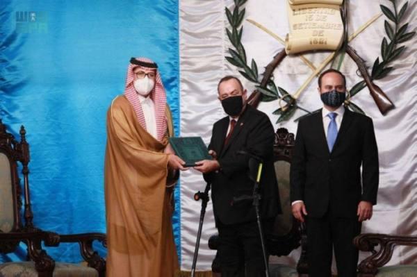 المالكي يقدم أوراق اعتماده سفيرًا للمملكة لرئيس جمهورية غواتيمالا