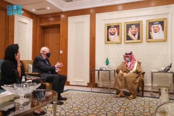 وزير الخارجية يستعرض مع الممثل السامي لتحالف الحضارات دور المملكة الدولي في دعم الحوار