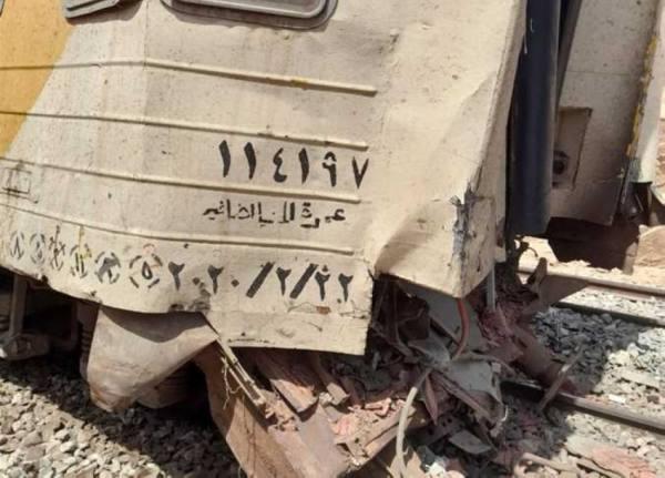 إصابة 5 أشخاص في حادث تصادم قطار ركاب في مصر