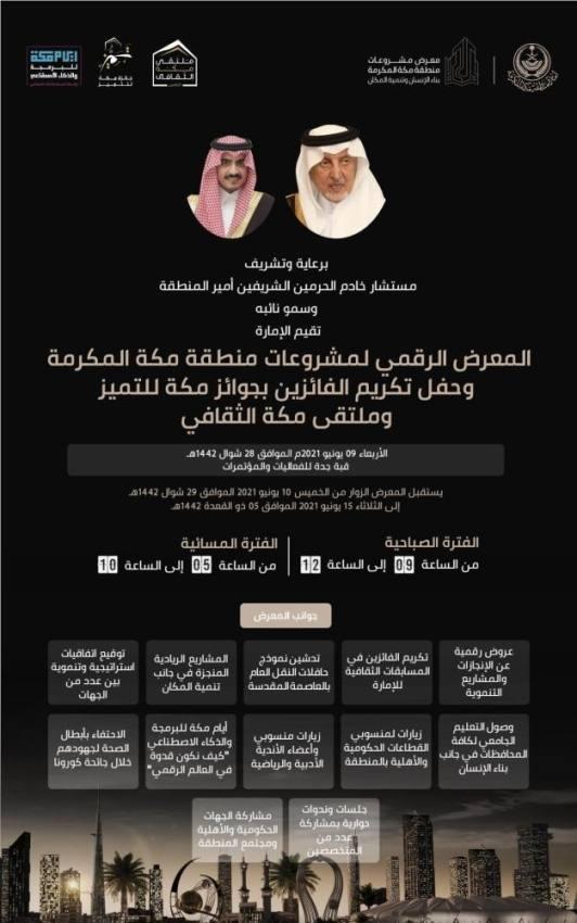 الفيصل يدشن معرض مشروعات مكة الرقمي.. ويكرم الفائزين بجائزة التميز
