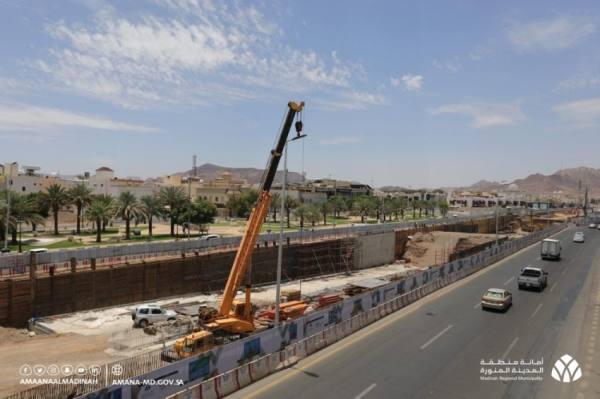 صور من تطوير البنية التحتية بالمدينة المنورة