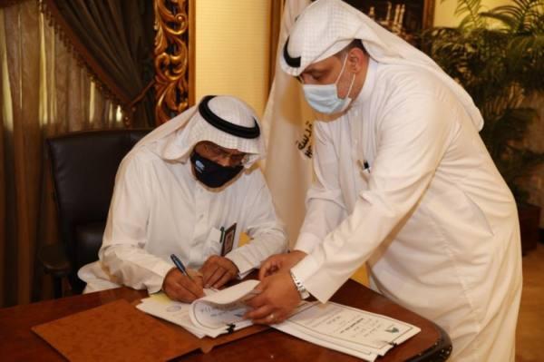 القويحص يوقع عقد تنفيذ أشغال عامة لمخططات ولي العهد جنوب مكة