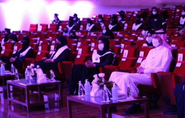 جامعة الأميرة نورة تحتفل بتخريج دفعتين من طالباتها