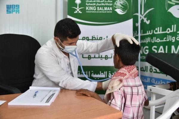 مركز الملك سلمان للإغاثة يقدّم خدماته العلاجية لـ 1,321 مستفيدا في عبس خلال شهر